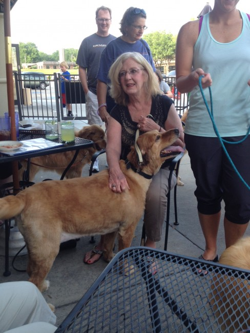 Pups on the Patio - 08 2015 - Cindy with Sandy