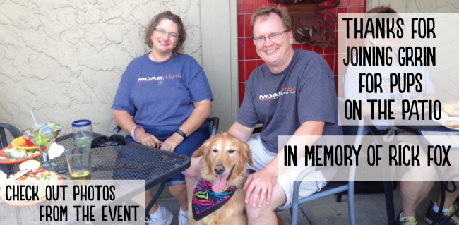 Thanks for Attending Pups on the Patio - Rick Fox - Post Image